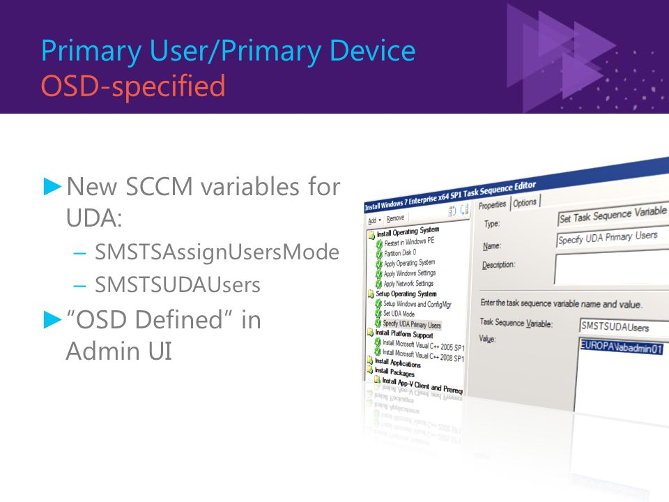 UNLOCK THE POWER OF USER DEVICE AFFINITY IN SCCM 2012 James