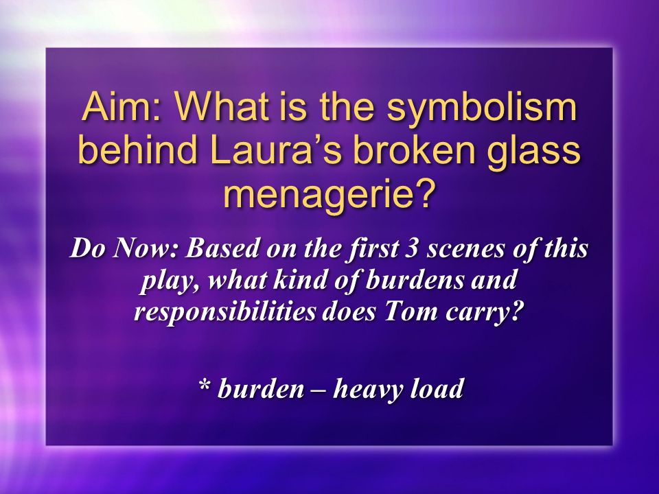 what does broken glass symbolize