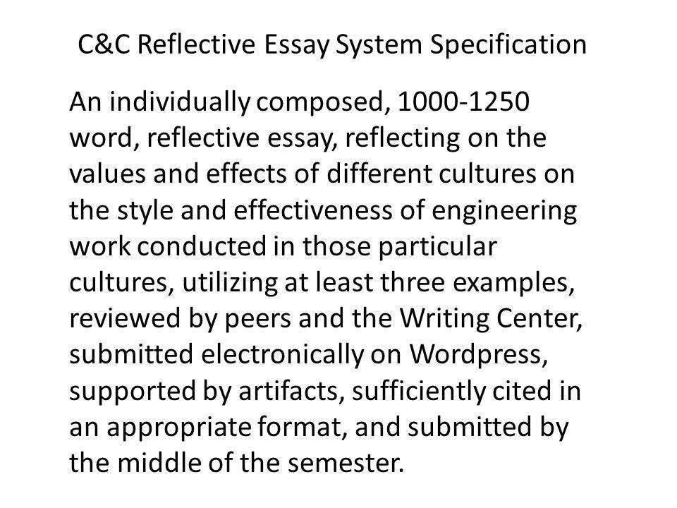 System Design  Eex Civilizations And Cultures Reflective Essay   Cc Reflective
