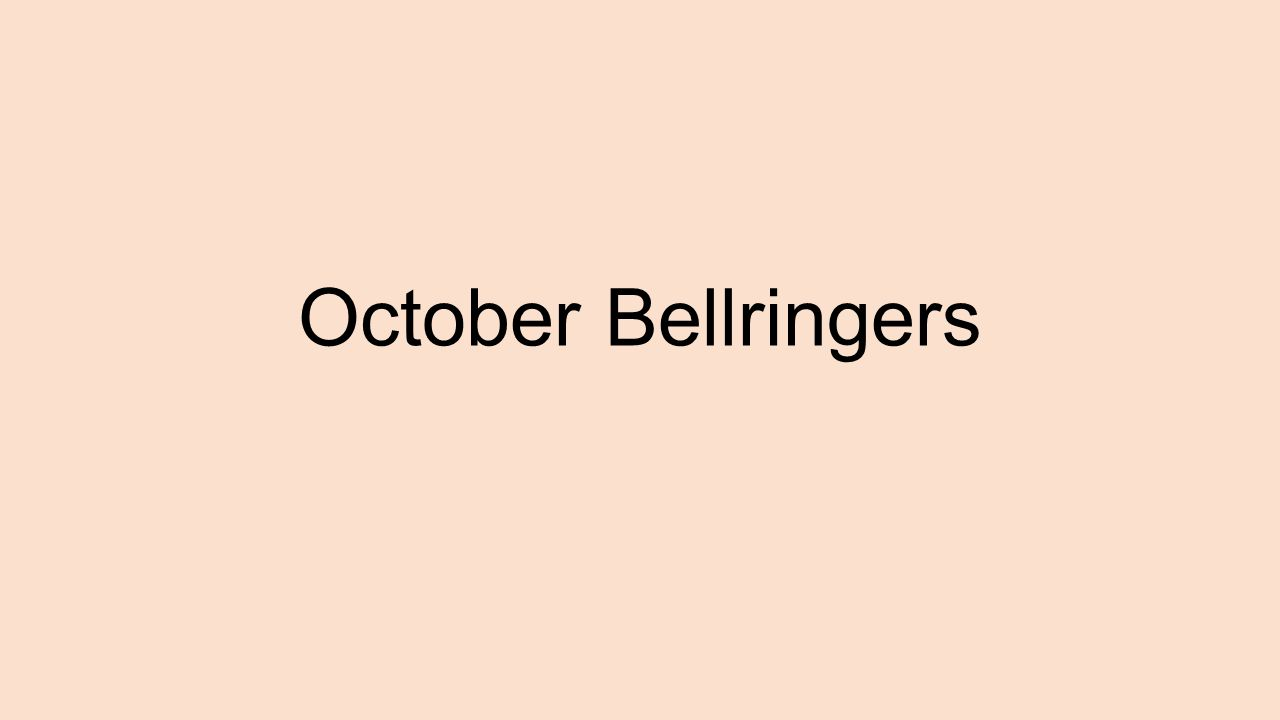 October Bellringers Disney Cartoons Are Known For Having Strong