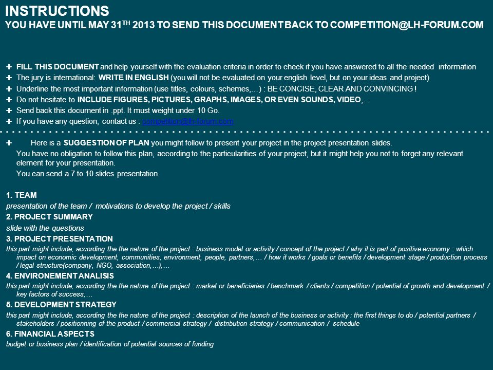 INSTRUCTIONS YOU HAVE UNTIL MAY 31 TH 2013 TO SEND THIS DOCUMENT BACK TO ✚ FILL THIS DOCUMENT and help yourself with the evaluation. - ppt download - 웹