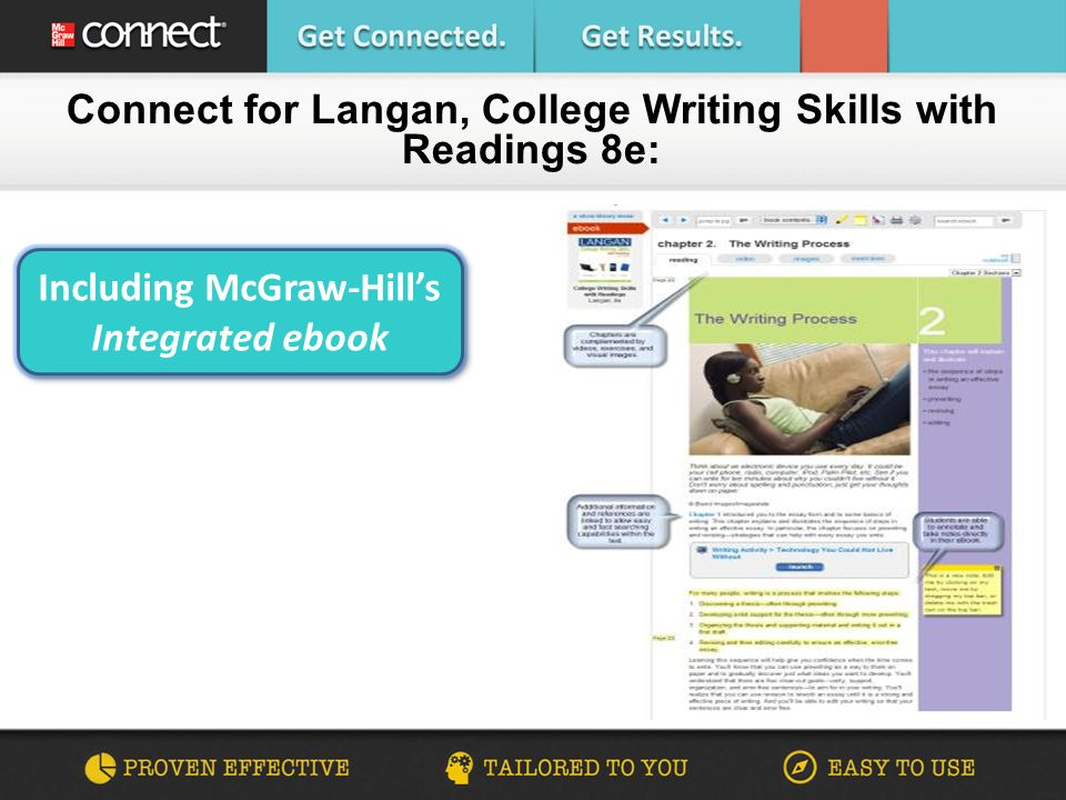 Are you connected college writing skills with readings john langan 4 connect for langan college writing skills with readings 8e including mcgraw hills integrated ebook including mcgraw hills integrated ebook fandeluxe