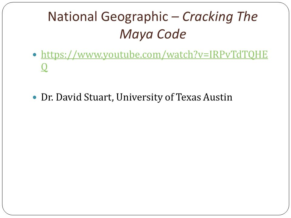 cracking the maya code youtube