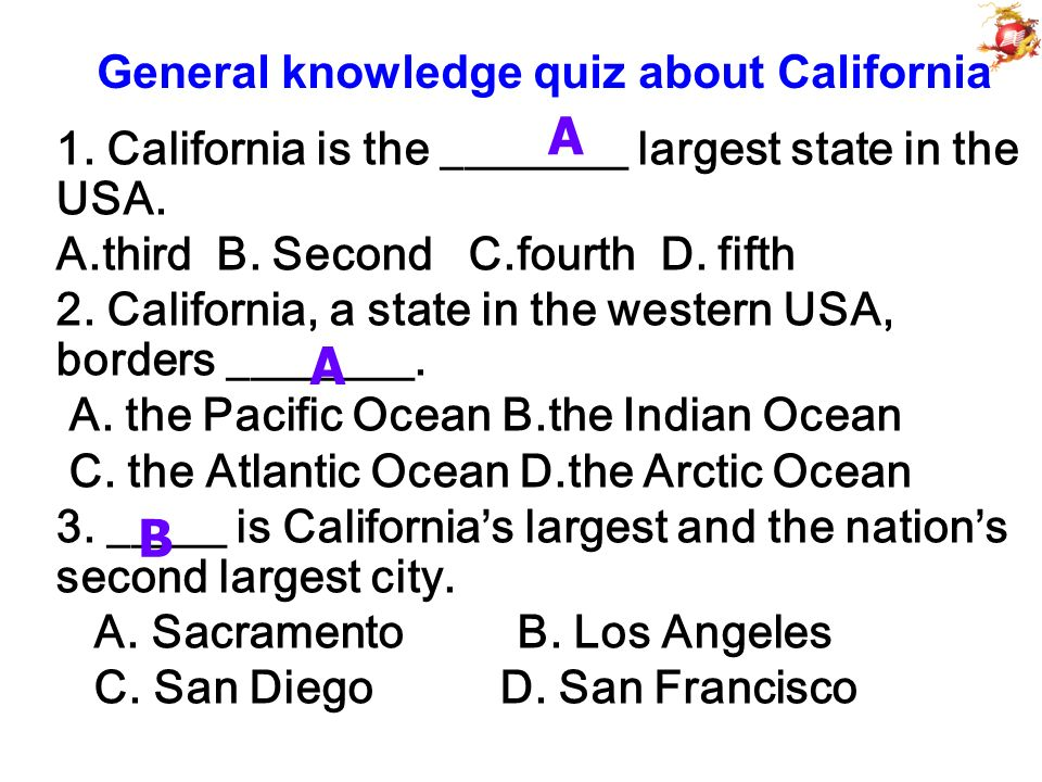 Leading-in: A quiz about the USA 1 How many states are there in the