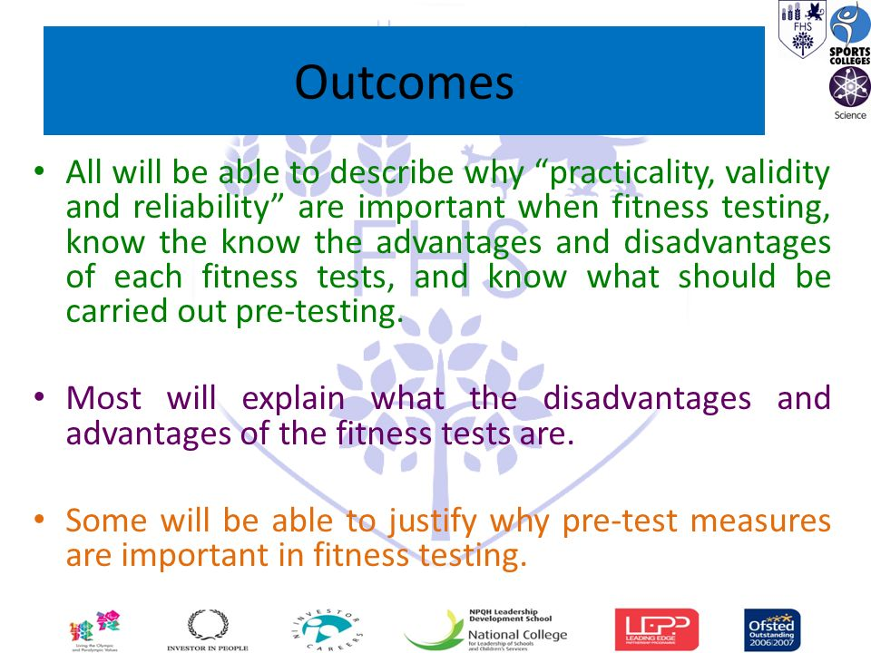 Topic C.1 Lesson 1 Fitness testing methods for components of fitness ...