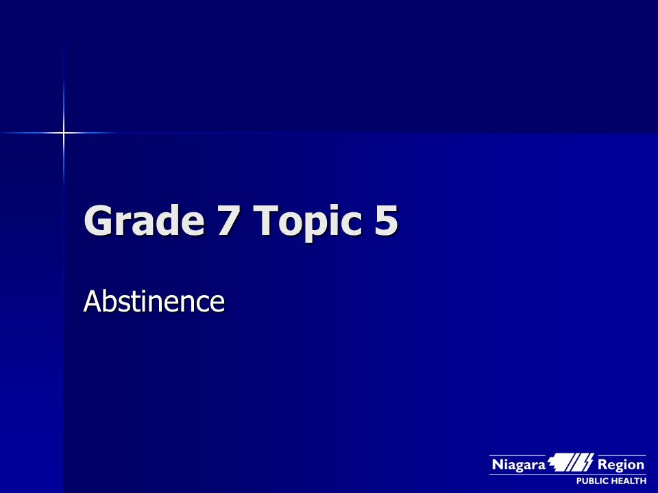 What does abstinence mean in health