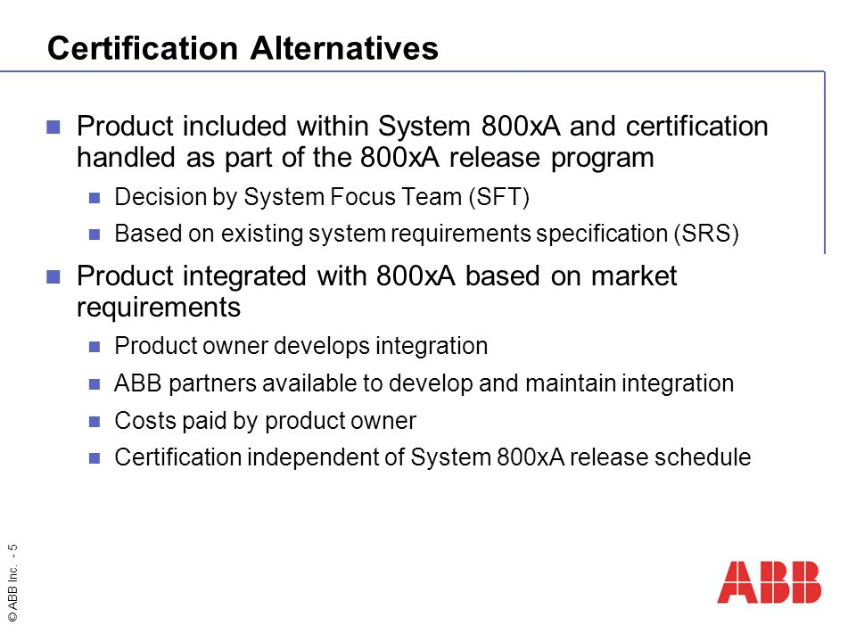 Abb Inc 1 A Robust Portfolio Of Interoperable Solutions Getting