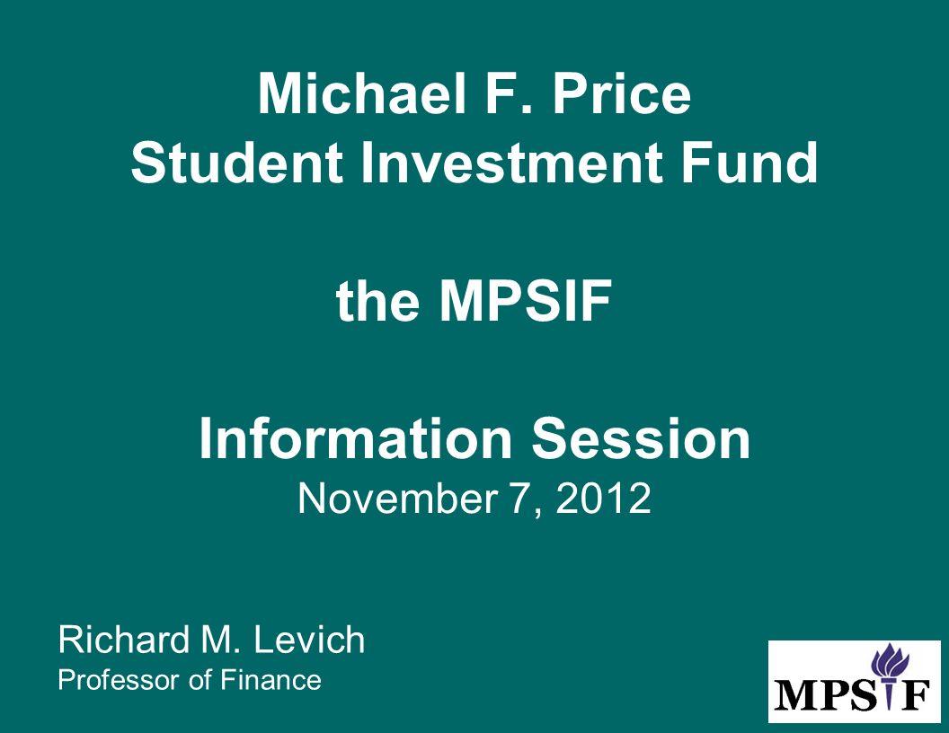 michael price student investment fund