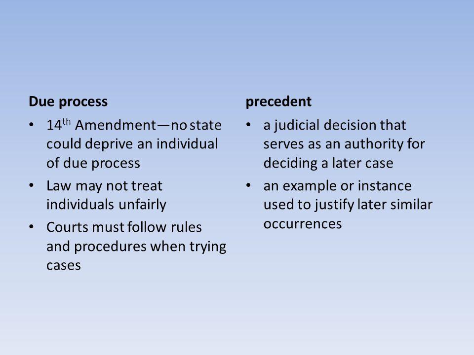 3 Due Process 14 Th Amendment No