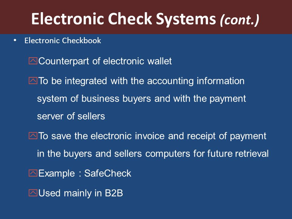 electronic payment systems introduction secure electronic funds