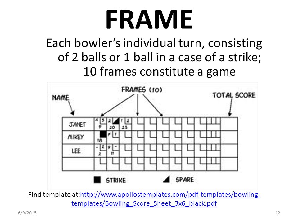 BOWLING 6/9/ HISTORY There are many forms of bowling, with one of ...