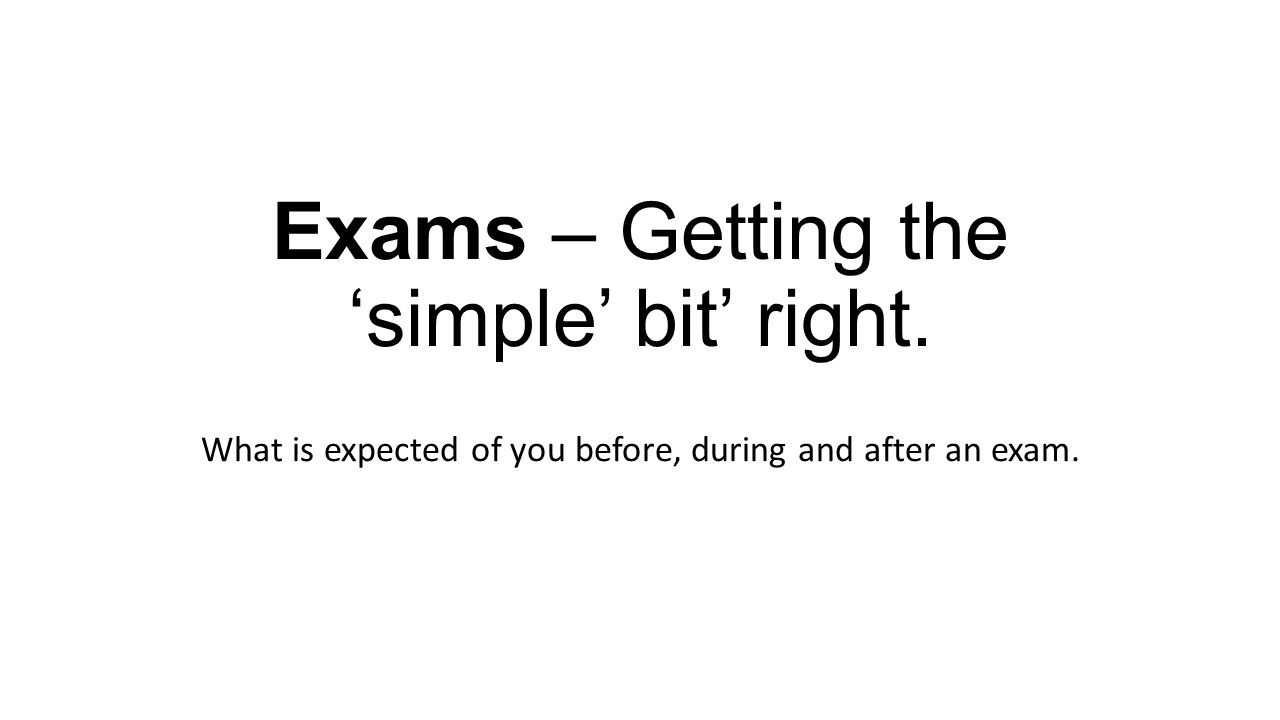 What is an exam 14