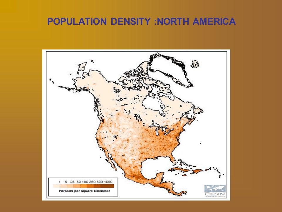 Population Density Map Of North America.Population Density And Distribution North America And Brazil
