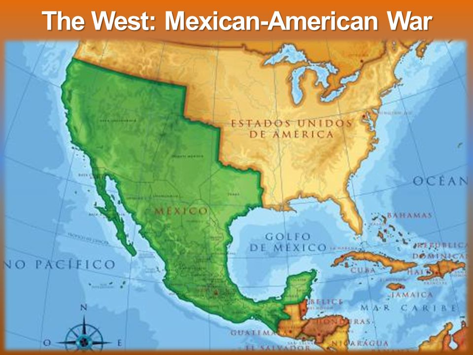 The West Mexican American War Event 1 Us Annexes Texas In - Us-map-before-mexican-american-war