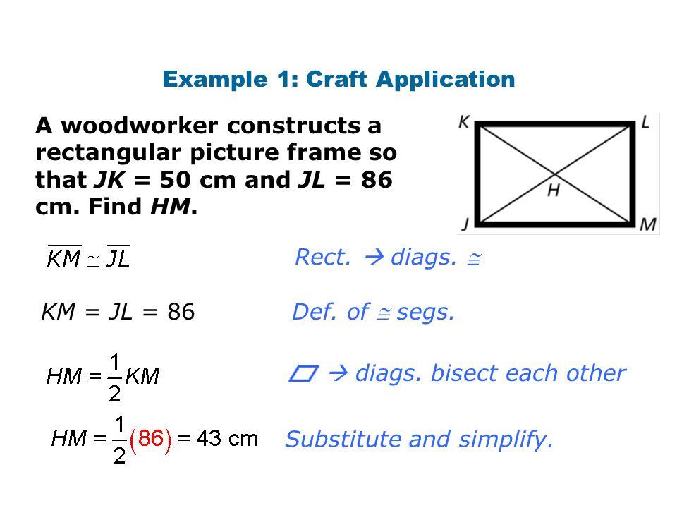 Properties of Special Parallelograms 6.4 Properties of ...