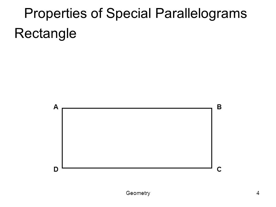 Geometry1 Section 6 4 Rhombuses Rectangles And Squares Ppt