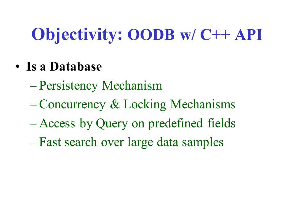 Star Database Tutorial Package Design & Objectivity