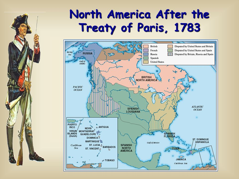 Treaty Of Paris Map 1783.North America After The Treaty Of Paris 1783 Background 1 2 Nd