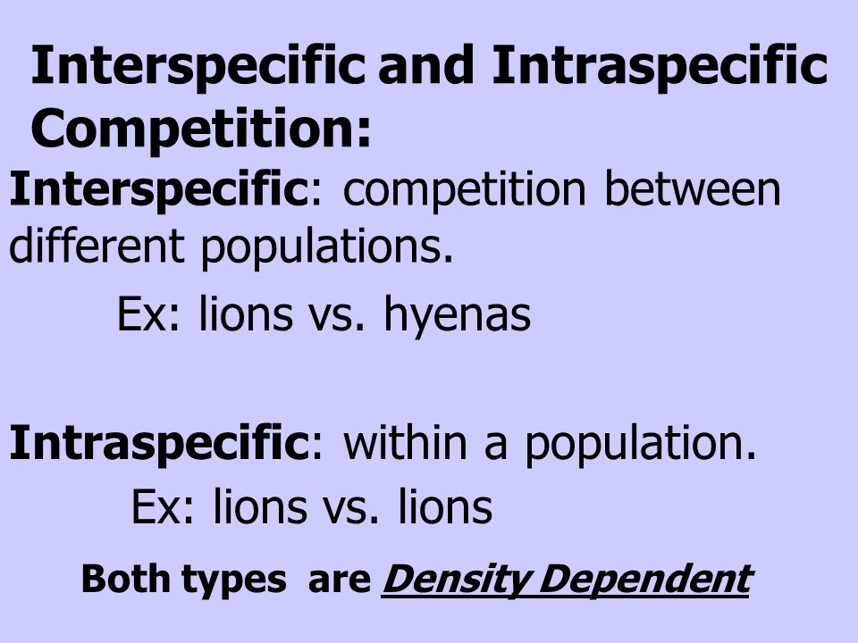 Inter and intraspecific relationships dating