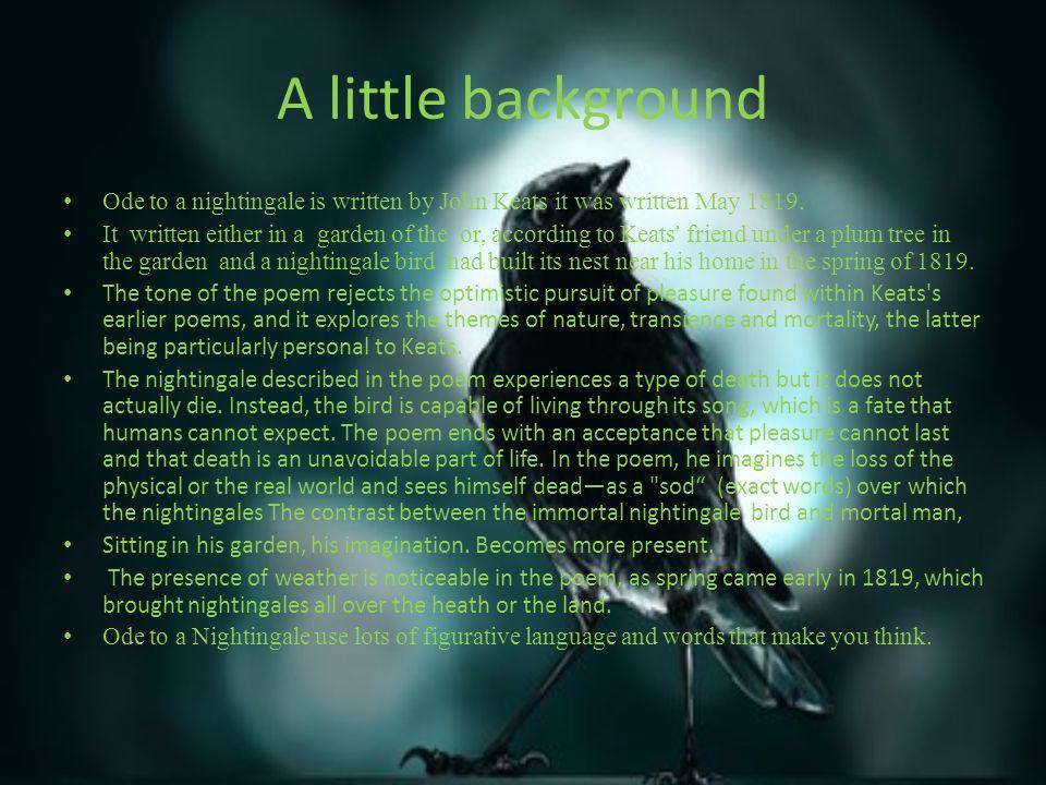 john keats ode to a nightingale analysis