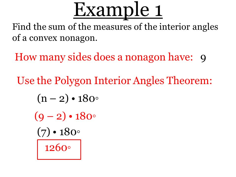 Section 8 1 Find Angle Measures In Polygons Theorem 8 1 Polygon