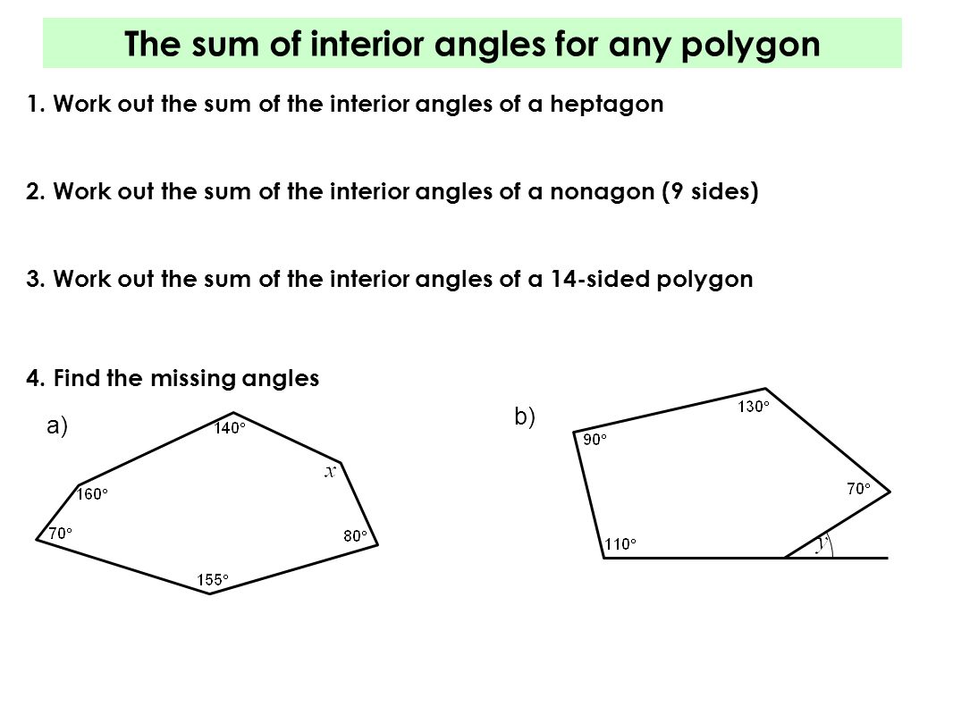 Interior Angles Of Polygons This Is Just One Of The Six