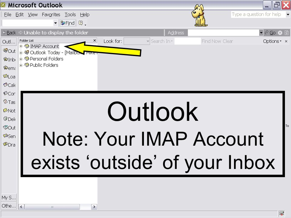 How to Synchronize Mailboxes (folders) IMAP  Outlook Note