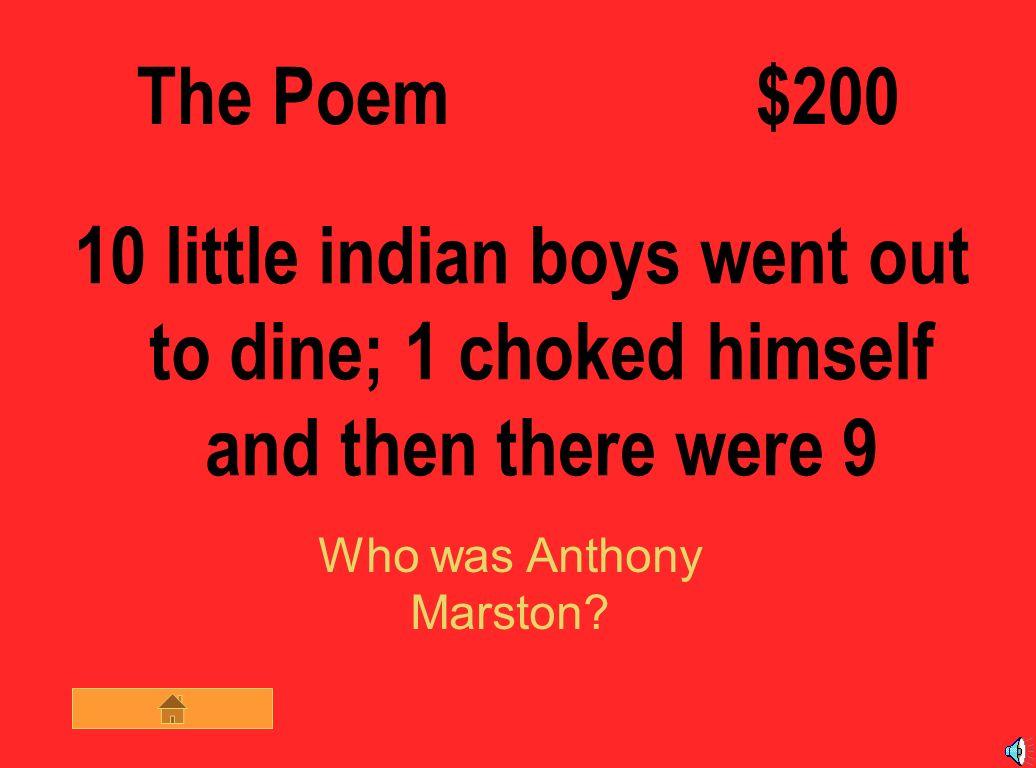 ten little indian boys poem