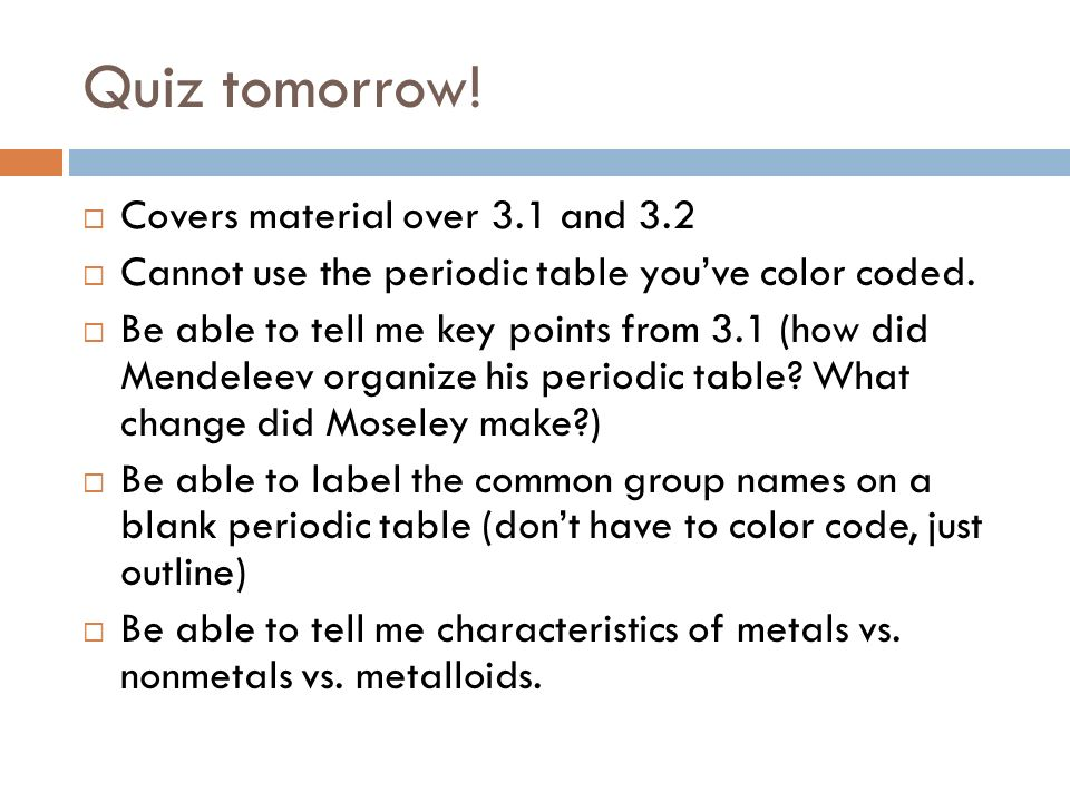 Chapter 3 Introduction To The Periodic Table Miss Le 1017 Ppt