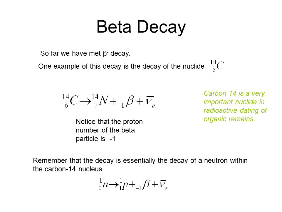 Further Types Of Beta Decay Beta Decay So Far We Have Met Decay