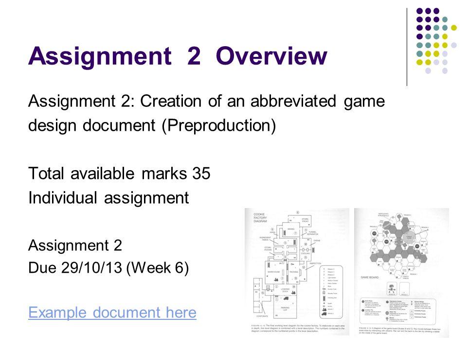 Interactive Multimedia Games Development COM Assignment - Mobile game design document template
