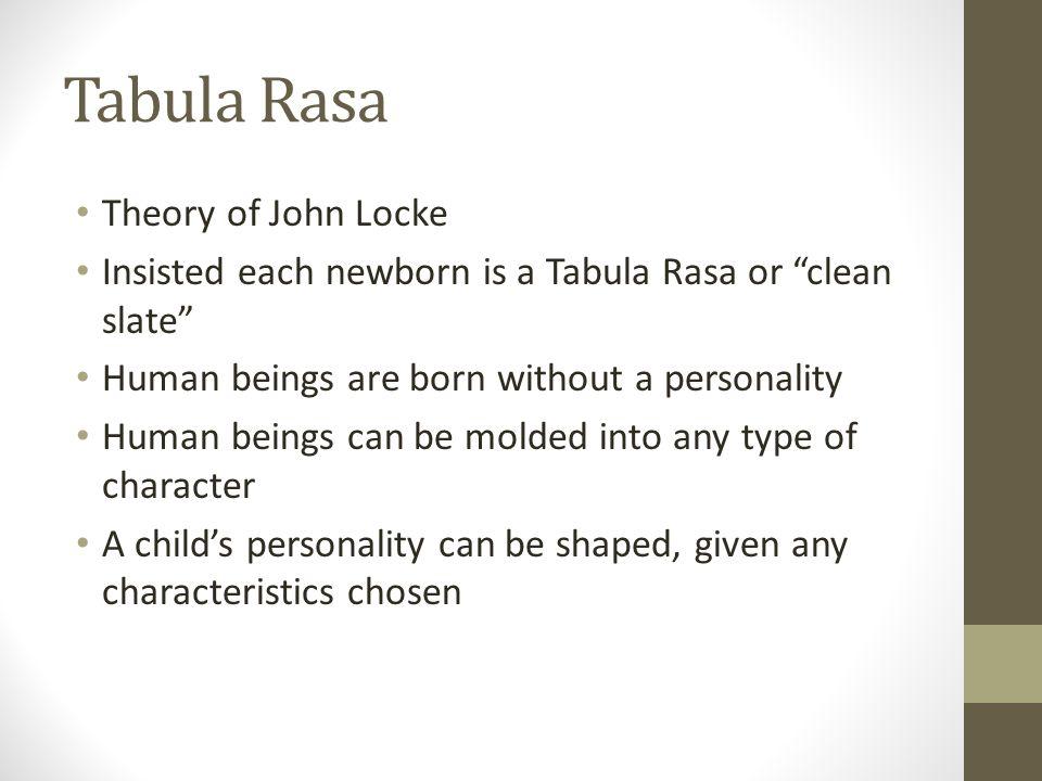 locke and tabula rasa