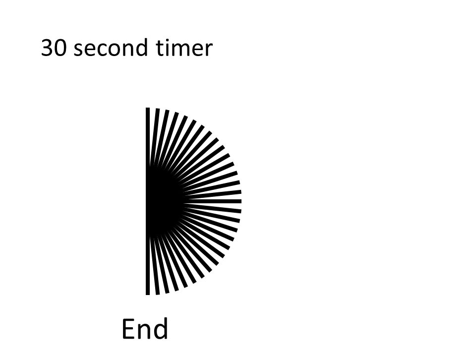 Contents: -30 second 'countdown timer' (with music!) -Silent