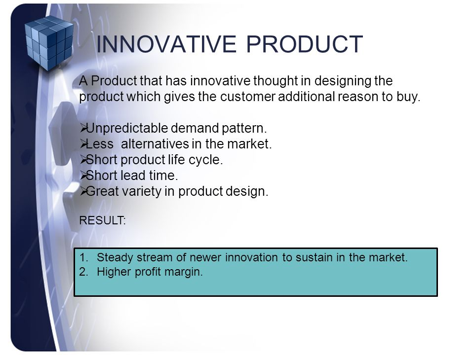 Product Supply Chain Management Characteristics Of A Product In A