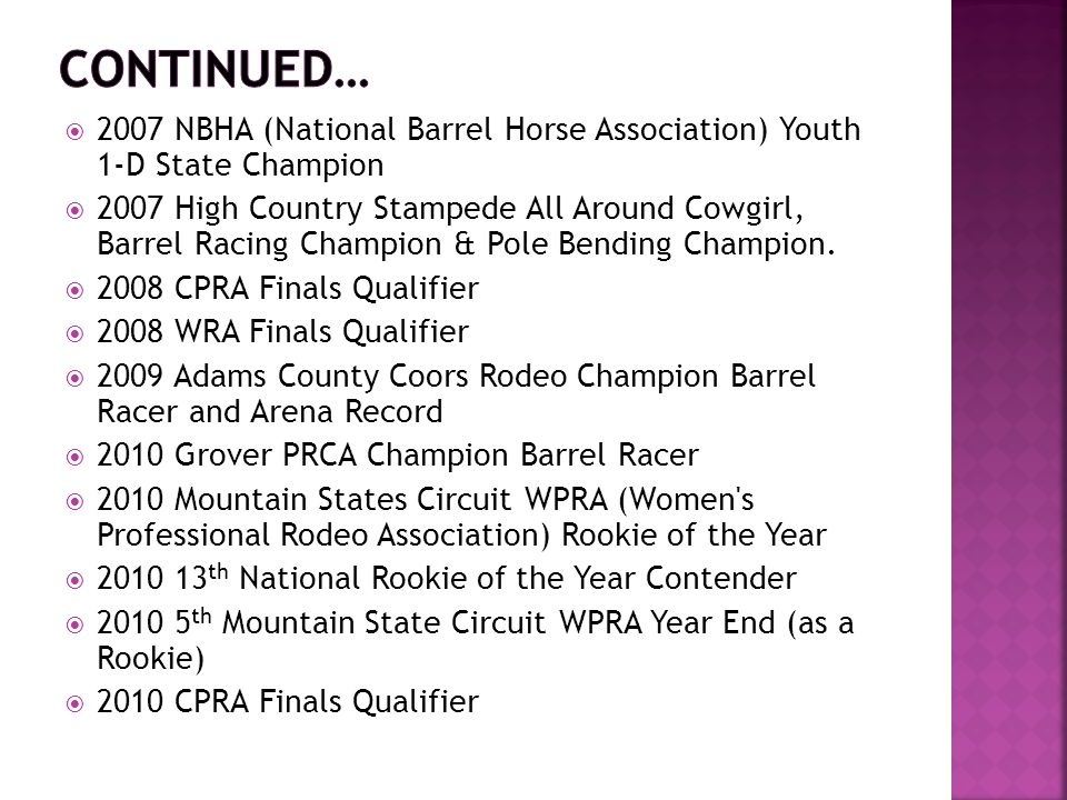 2007 NBHA National Barrel Horse Association Youth 1 D State Champion