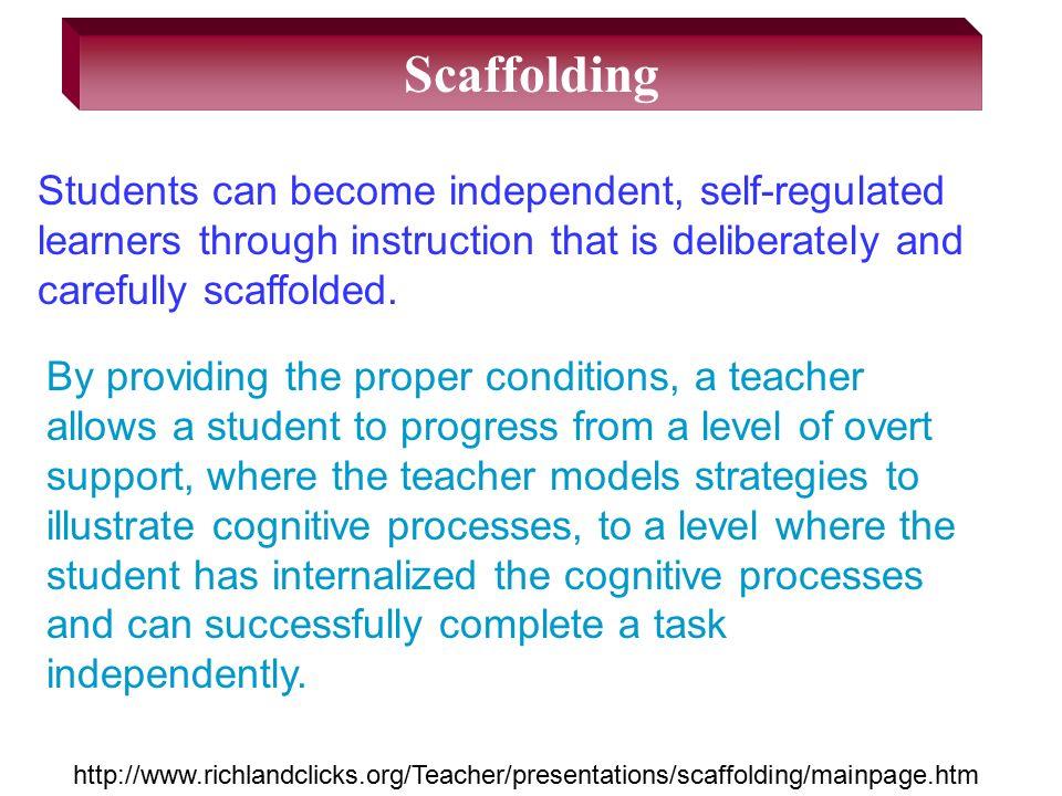 Scaffolding Cognitive Coaching Reciprocal Teaching Think Alouds