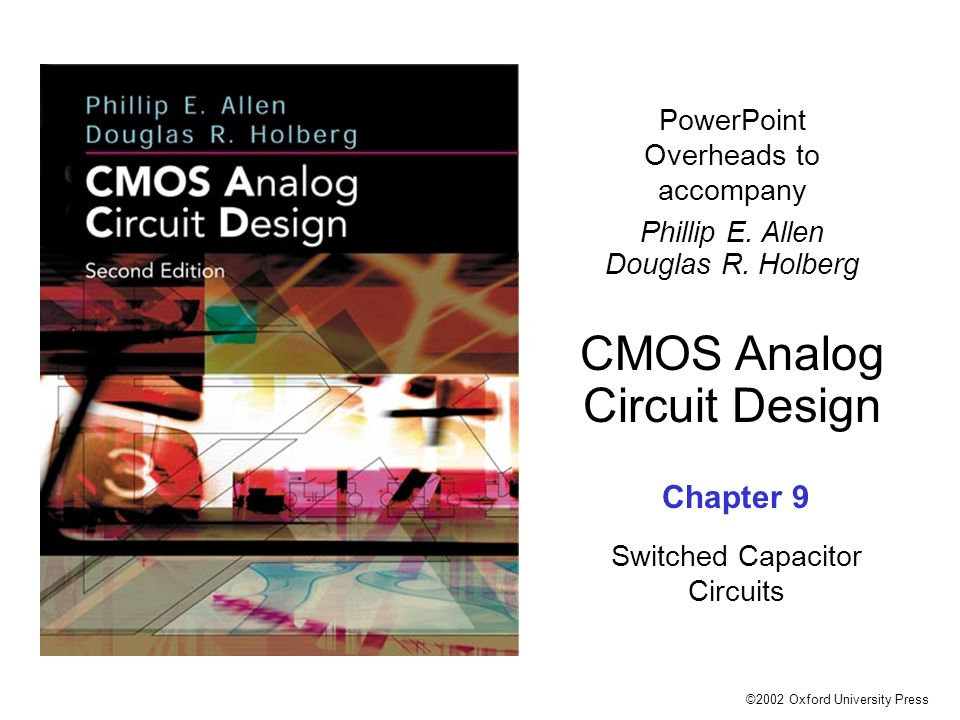 allen holberg cmos analog circuit design