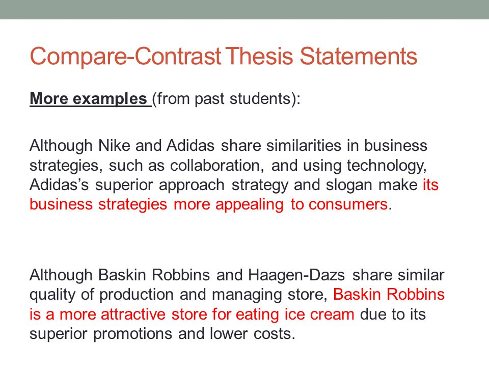 Fundamentals Of Writing April 24 Today Comparecontrast Writing
