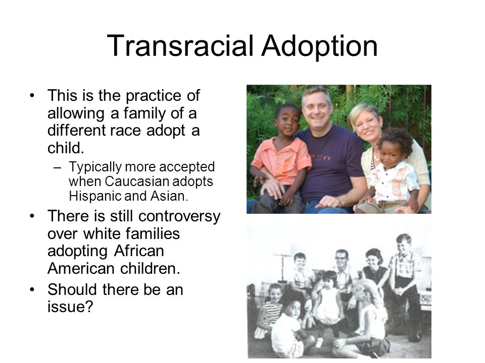 transracial adoptions essay The complicated, messy identity of a transracial adoptee in the atlantic, david french says questioning a white family's ability to raise a child of color is wrong.