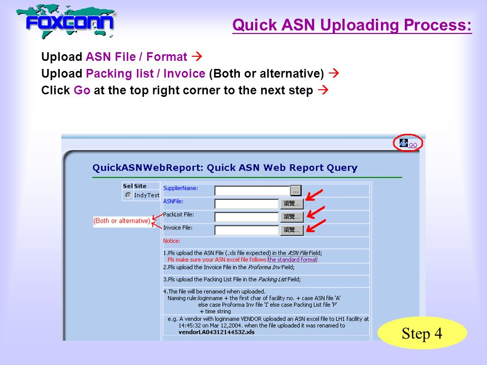 Upload ASN (Indy) in New Website ( Upload ASN (Indy) in New Website