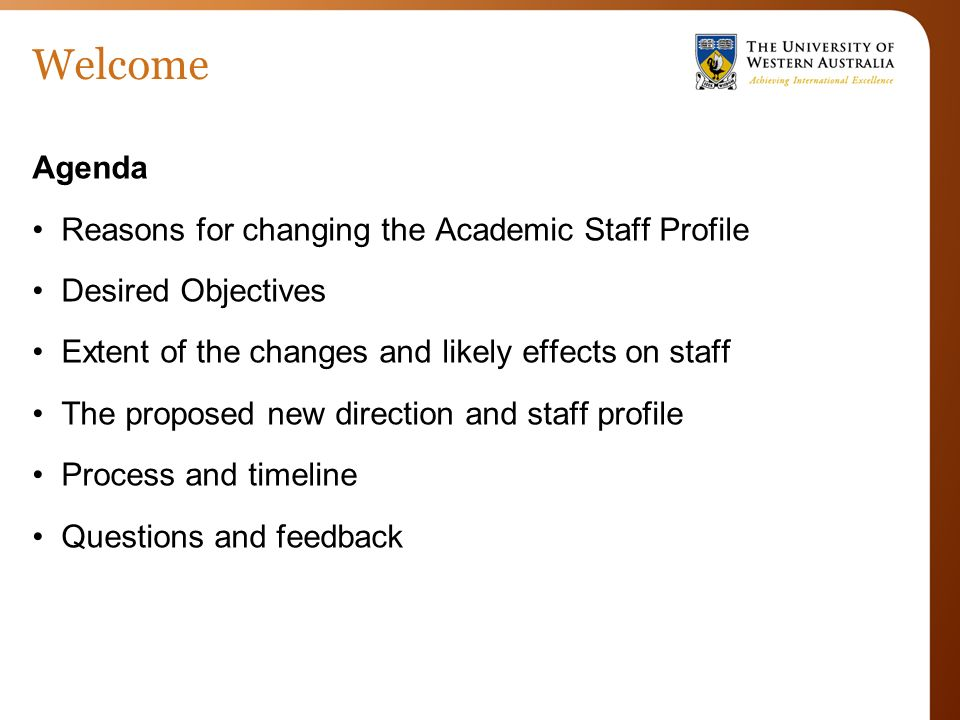 ECM Academic Profile Organisational Change Proposal Meeting 1 30
