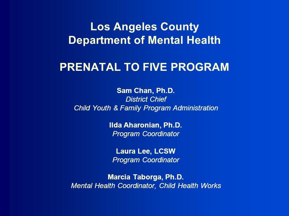 Los Angeles County Department Of Mental Health Prenatal To Five