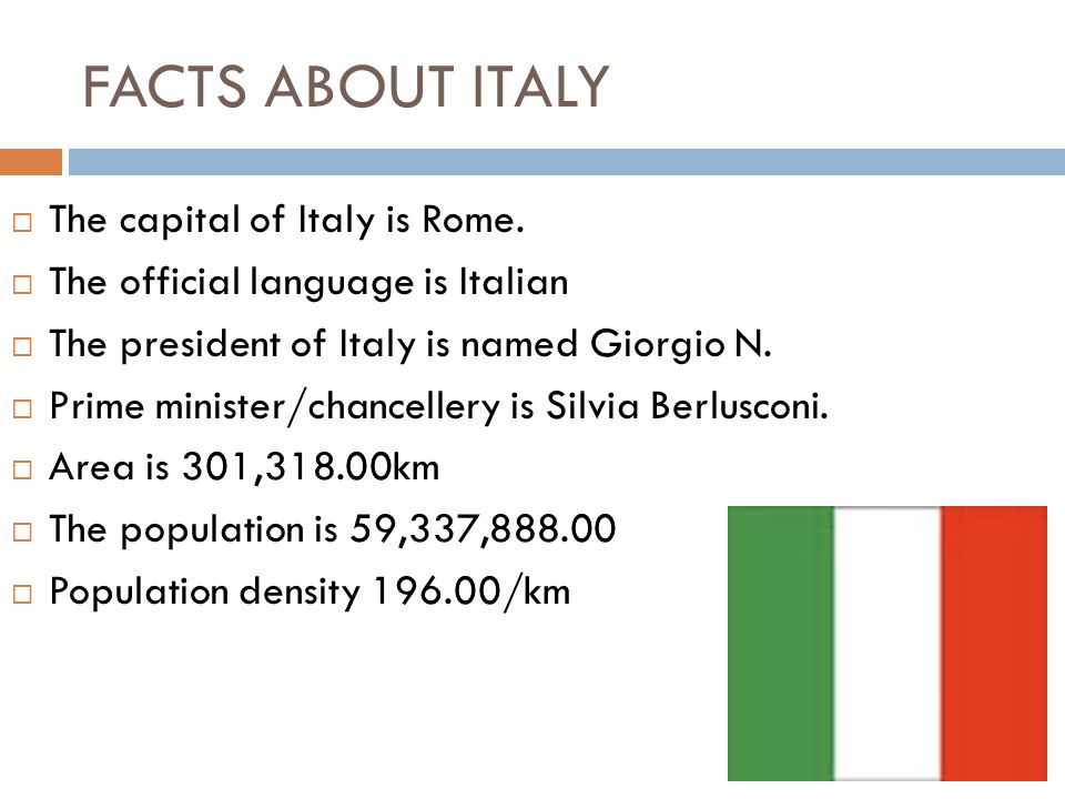 ITALY FACTS ABOUT 2