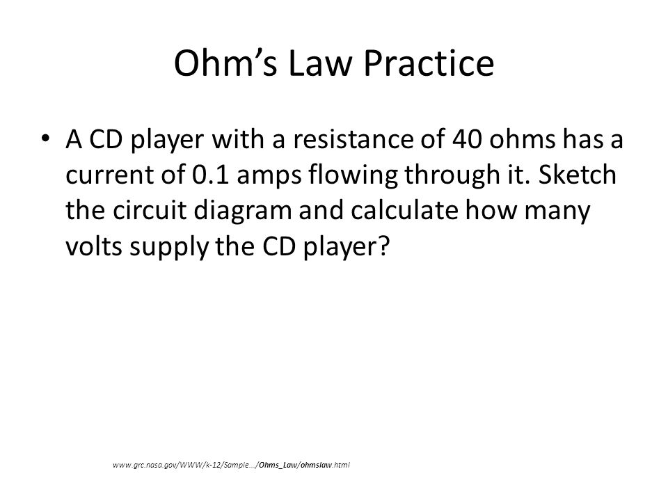 ohm s law practice a nine volt battery supplies power to a cordless rh slideplayer com Curling Iron Thermal Switch Curling Iron Replacement Parts