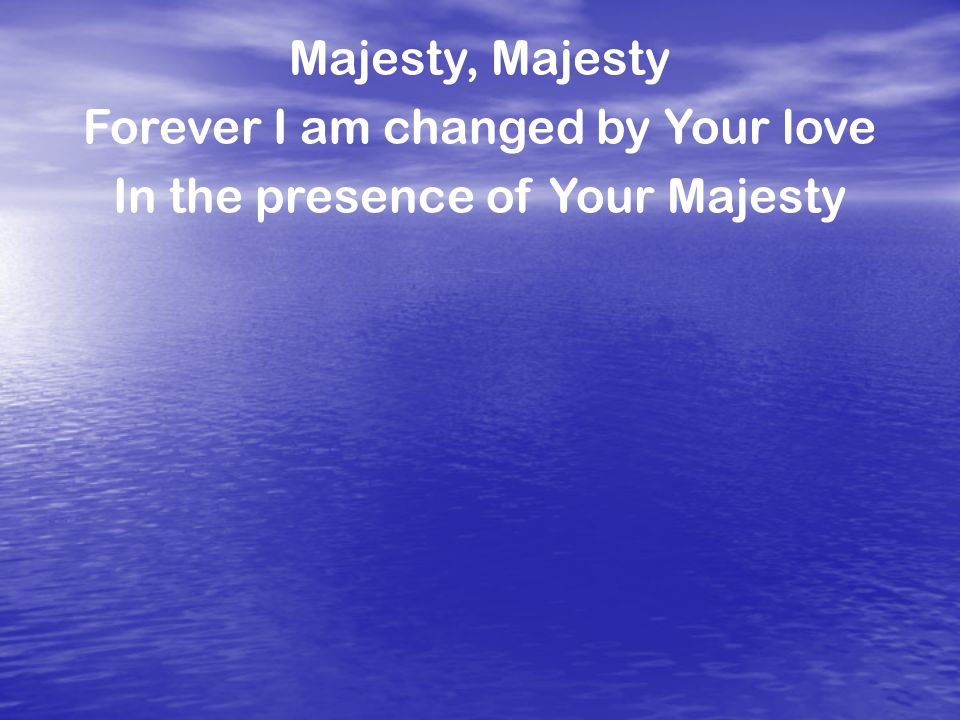forever i am changed by your love