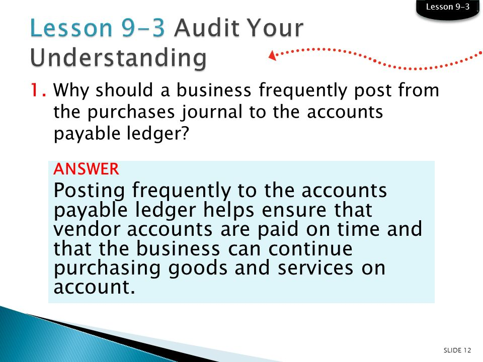 learning objectives lo7 post merchandise purchases to an accounts