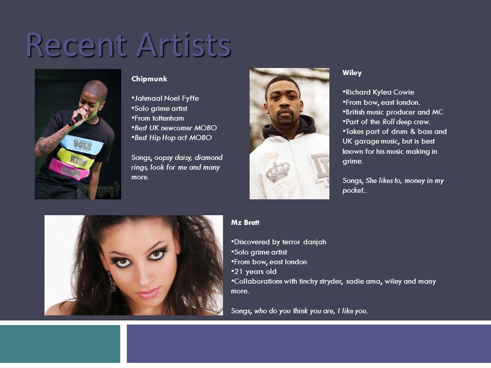 Genre Research BIANCA VALDEZ UK Grime  History A genre of