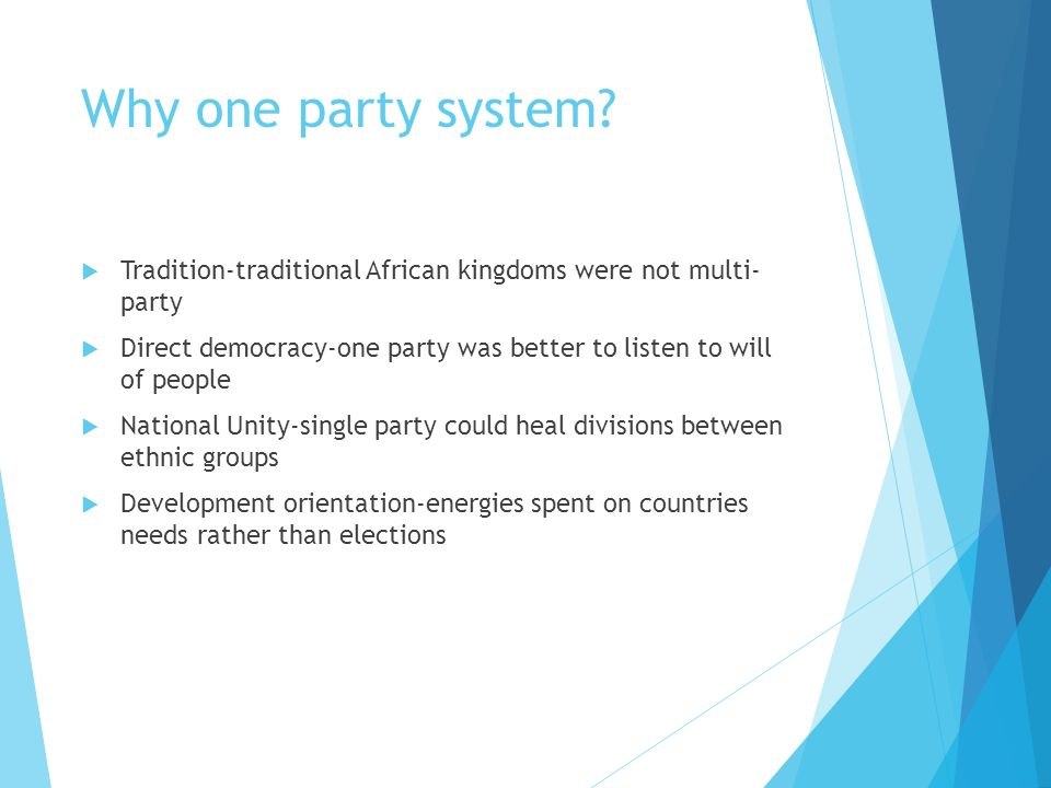 multi party system in africa