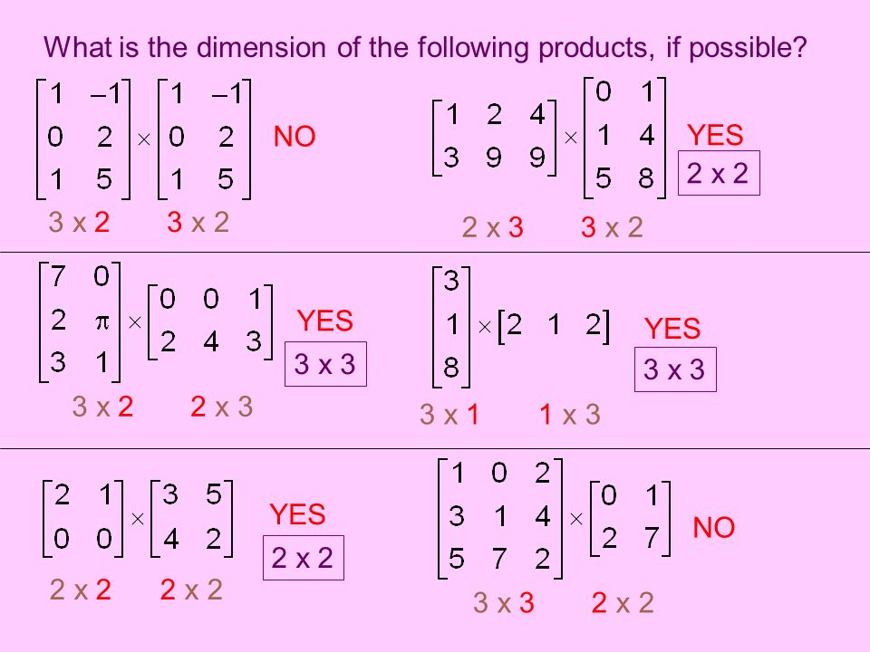 Section 4 3 Multiplying Matrices Matrix Multiplication 1 The Order Makes A Difference Ab Is Different From Ba 2 The Number Of Columns In First Matrix Ppt Download