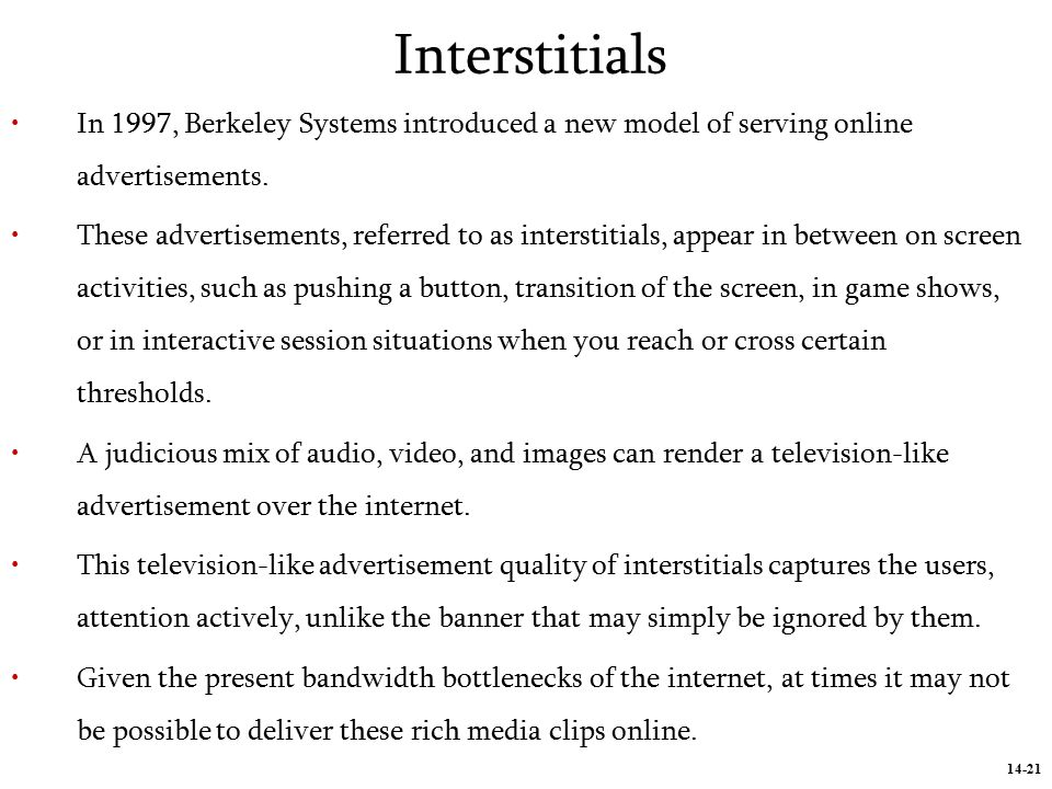 14-1 Internet Advertising An Introduction to Internet